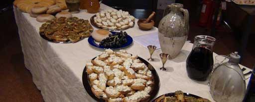 Tartine con salse da ricette di età augustea