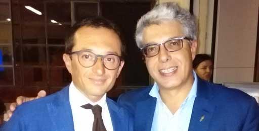 Cesare Verona presidente di penne Aurora (a dx) con il vincitore di MasterChef Federico Francesco Ferrero