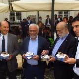Da sin Corrado Ariaudo, Marco Lucchini, Carlin Petrini, Maurizio Martina
