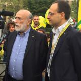 Da sin Carlo Petrini (Pres Slow Food int) e Roberto Moncalvo (pres Coldiretti)